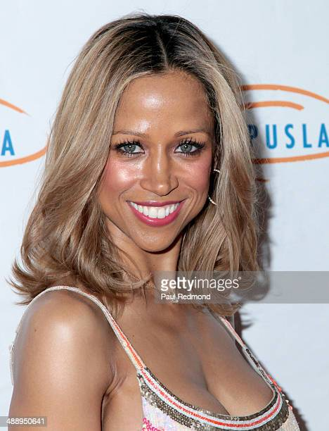 Actress Stacey Dash arriving at the14th Annual Lupus LA Orange Ball at Regent Beverly Wilshire Hotel on May 8 2014 in Beverly Hills California