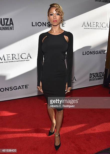 Actress Stacey Dash attends the premiere of Lionsgate Films' 'America' at Regal Cinemas LA Live on June 30 2014 in Los Angeles California
