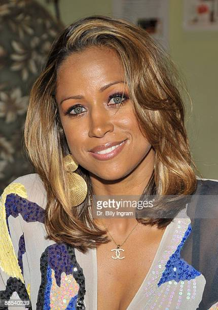 Actress Stacey Dash poses at the 'House Arrest' behind the scenes Sneak Peek on June 17 2009 in Hollywood California