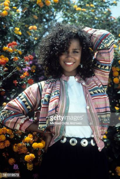 Actress Stacey Dash poses on set of the Warner Bros movie ' Moving' in 1988
