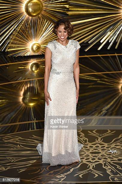 Actress Stacey Dash speaks onstage during the 88th Annual Academy Awards at the Dolby Theatre on February 28 2016 in Hollywood California