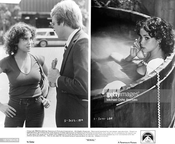 Actress Stacey Nelkin and Martin Mull on set Stacey Nelkin on set of the Paramount Pictures movie Serial in 1980