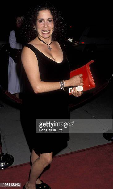 Actress Stacey Nelkin attending the premiere of 'Manhattan Murder Mystery' on August 16 1993 at the Academy Theater in Beverly Hills California