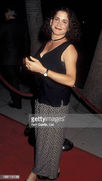 Actress Stacey Nelkin attending the premiere of 'Needful Things' on August 24 1993 at the Academy Theater in Beverly Hills California