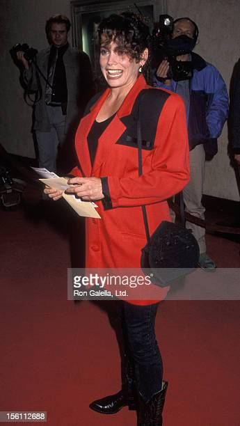 Actress Stacey Nelkin attending the premiere of 'The Power Of One' on March 24 1992 at Mann Bruin Theater in Westwood California