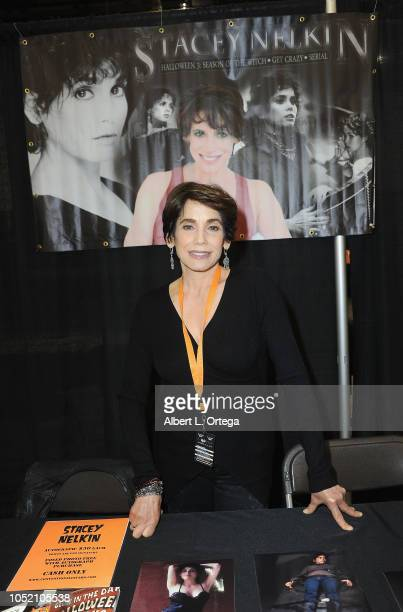 Actress Stacey Nelkin attends Halloween Con 40 Years Of Terror held at Pasadena Civic Center on October 13 2018 in Pasadena California