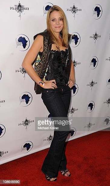Actress Stacey Oristano arrives at the Shine On Sierra Leone Foundation Benefit at The Playhouse on November 11 2009 in Hollywood California