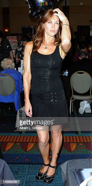 Actress Stacy Haiduk participates in The Hollywood Show held at Burbank Airport Marriott Hotel Convention Center on August 5 2012 in Burbank...