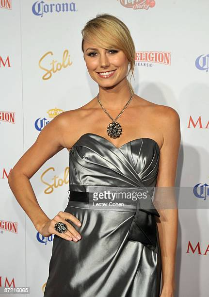 Actress Stacy Keibler arrives at Maxim's 10th Annual Hot 100 Celebration Presented by Dr Pepper Cherry True Religion Brand Jeans Stolichnaya Vodka...