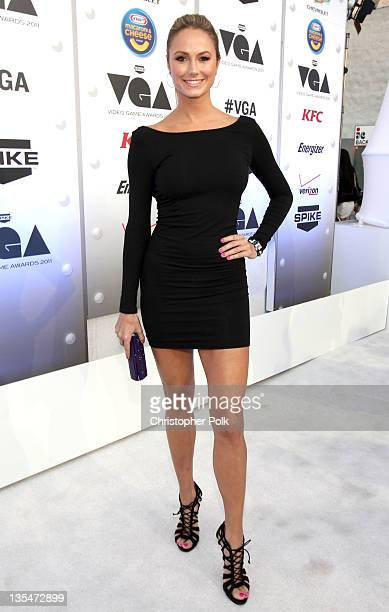 Actress Stacy Keibler arrives at Spike TV's '2011 Video Game Awards' at Sony Studios on December 10 2011 in Los Angeles California