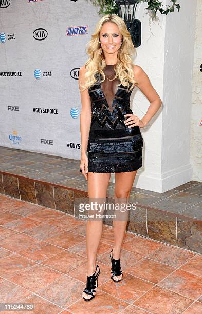 Actress Stacy Keibler arrives at Spike TV's 5th annual 2011 Guys Choice Awards at Sony Pictures Studios on June 4 2011 in Culver City California