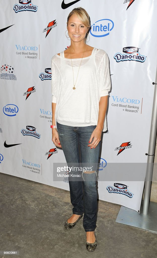 Actress Stacy Keibler arrives at the 3rd Annual Mia Hamm & Nomar Garciaparra Celebrity Soccer Challenge at The Home Depot Center on January 16, 2010 in Carson, California.