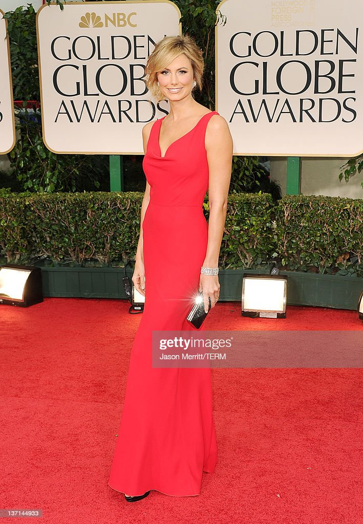 Actress Stacy Keibler arrives at the 69th Annual Golden Globe Awards held at the Beverly Hilton Hotel on January 15, 2012 in Beverly Hills, California.