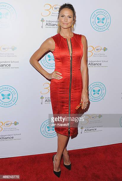 Actress Stacy Keibler arrives at The Independent School Alliance For Minority Affairs Impact Awards Dinner at Four Seasons Beverly Wilshire Hotel Los...