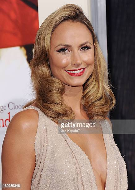 Actress Stacy Keibler arrives at the Los Angeles Premiere 'The Descendants' at AMPAS Samuel Goldwyn Theater on November 15 2011 in Beverly Hills...