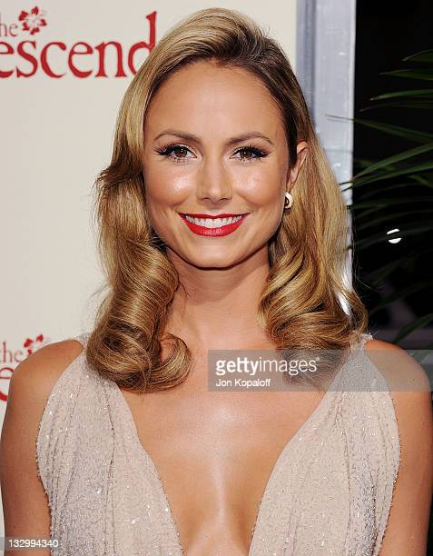 """Actress Stacy Keibler arrives at the Los Angeles Premiere """"The Descendants"""" at AMPAS Samuel Goldwyn Theater on November 15, 2011 in Beverly Hills,..."""