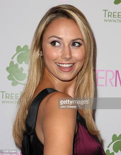Actress Stacy Keibler arrives at the opening of the Intermix store on Robertson Boulevard on September 25 2007 in Los Angeles California