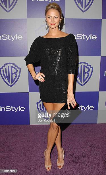 Actress Stacy Keibler arrives at the Warner Brothers/InStyle Golden Globes After Party at The Beverly Hilton Hotel on January 17 2010 in Beverly...