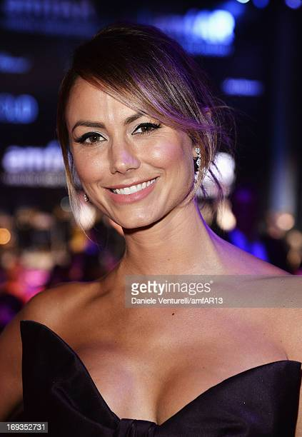 Actress Stacy Keibler attends amfAR's 20th Annual Cinema Against AIDS during The 66th Annual Cannes Film Festival at Hotel du CapEdenRoc on May 23...