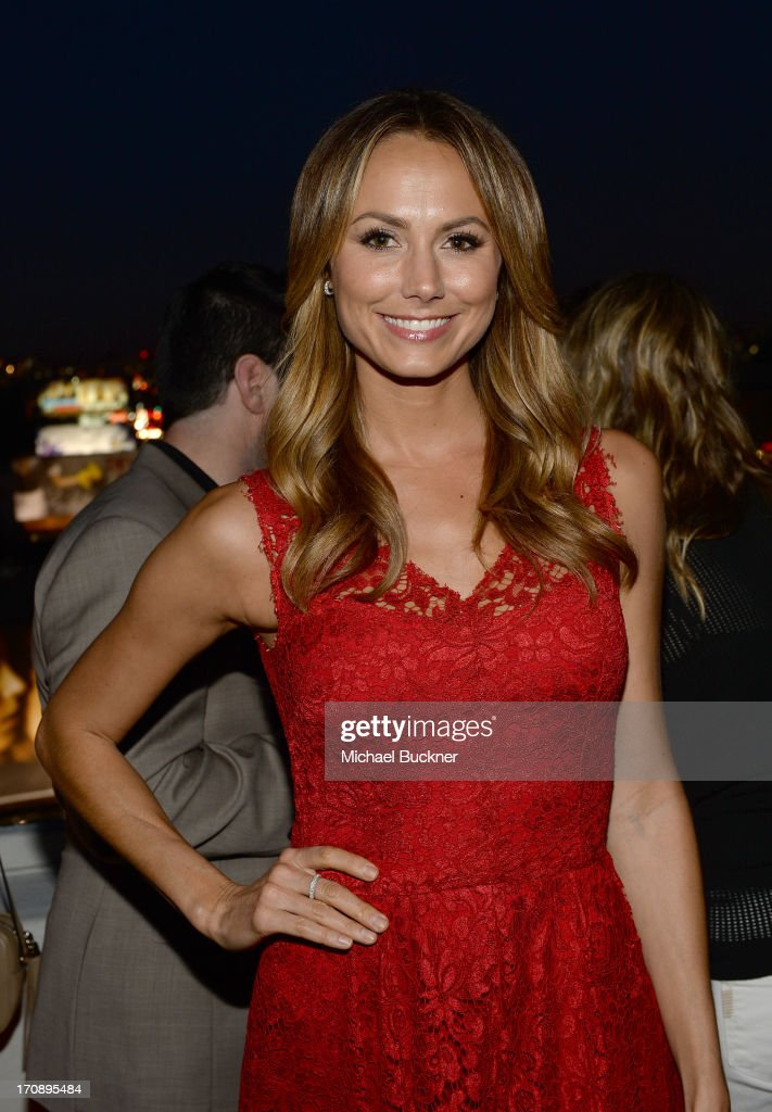 Actress Stacy Keibler attends Mary-Kate Olsen, Ashley Olsen, and InStyle Editor Ariel Foxman celebrate the launch of the Elizabeth and James Fall 2013 Handbag Collection at a cocktail party held at Chateau Marmont in West Hollywood on June 19, 2013.