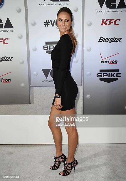 Actress Stacy Keibler attends Spike TV's 2011 Video Game Awards at Sony Studios on December 10 2011 in Los Angeles California