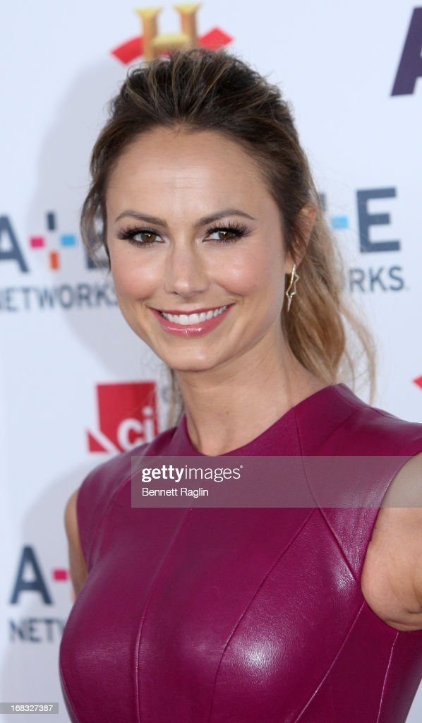 Actress Stacy Keibler attends the 2013 A+E Networks Upfront at Lincoln Center on May 8, 2013 in New York City.