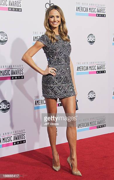 Actress Stacy Keibler attends the 40th Anniversary American Music Awards held at Nokia Theatre LA Live on November 18 2012 in Los Angeles California
