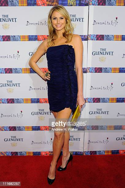 Actress Stacy Keibler attends the 9th Annual Dressed To Kilt charity fashion show at Hammerstein Ballroom on April 5 2011 in New York City