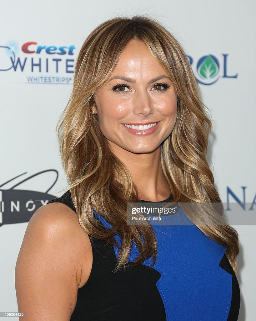 Actress Stacy Keibler attends the 'Gold Meets Golden' event on January 12, 2013 in Los Angeles, California.
