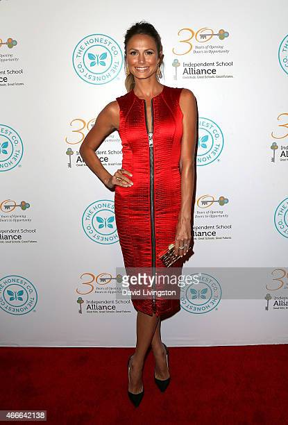 Actress Stacy Keibler attends the Independent School Alliance for Minority Affairs Impact Awards Dinner at the Four Seasons Beverly Wilshire Hotel on...