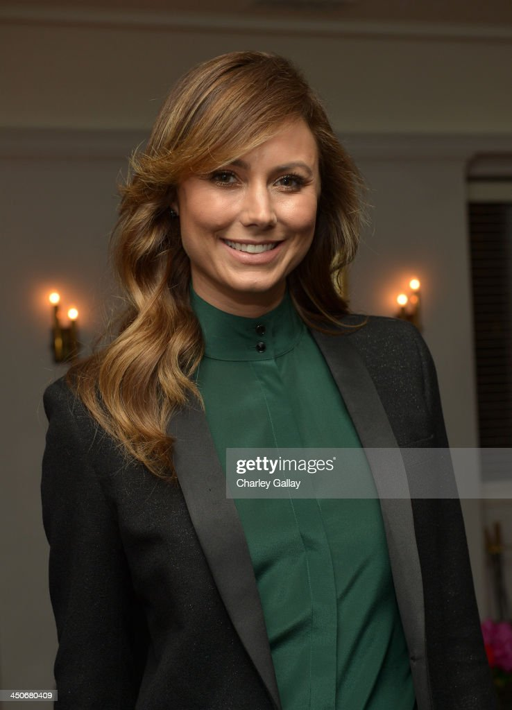 Actress Stacy Keibler attends the launch celebration of the Banana Republic L'Wren Scott Collection hosted by Banana Republic, L'Wren Scott and Krista Smith at Chateau Marmont on November 19, 2013 in Los Angeles, California.