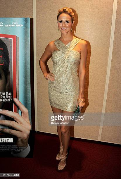 """Actress Stacy Keibler attends the Premiere of Columbia Pictures' """"The Ides Of March"""" held at the Academy of Motion Picture Arts and Sciences' Samuel..."""