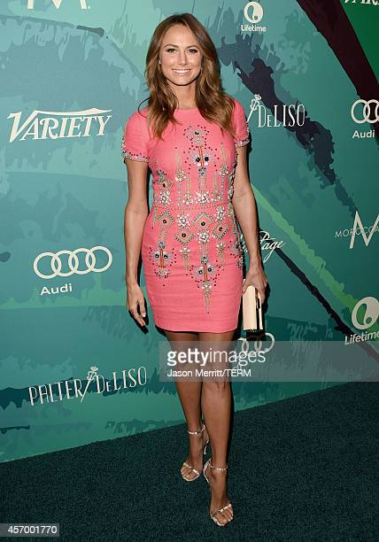 Actress Stacy Keibler attends the Variety's 2014 Power of Women Event in LA presented by Lifetime at the Beverly Wilshire Four Seasons Hotel on...