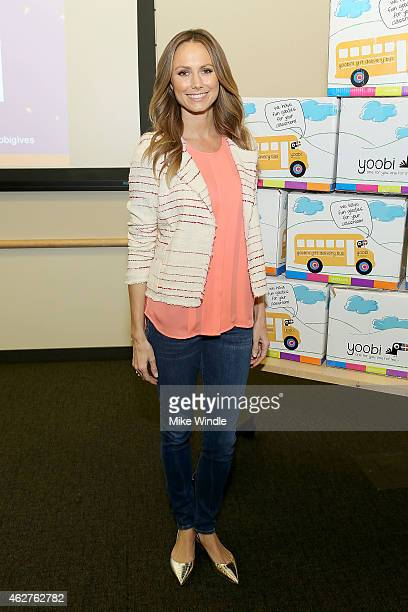 Actress Stacy Keibler attends the Yoobi Starlight Children's Foundation Give Event at Children's Hospital Los Angeles on February 4 2015 in Los...
