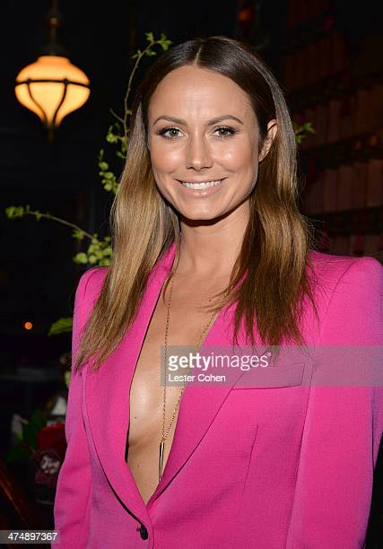 Actress Stacy Keibler attends Vanity Fair and FIAT celebration of 'Young Hollywood' during Vanity Fair Campaign Hollywood at No Vacancy on February...
