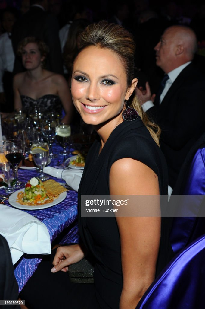 Actress Stacy Keibler poses during The 23rd Annual Palm Springs International Film Festival Awards Gala at the Palm Springs Convention Center on January 7, 2012 in Palm Springs, California.