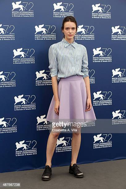 Actress Stacy Martin attends a photocall for 'Taj Mahal' during the 72nd Venice Film Festival at Palazzo del Casino on September 10 2015 in Venice...