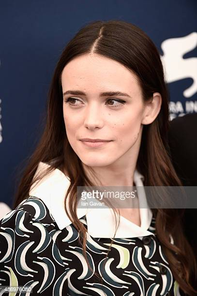 Actress Stacy Martin attends a photocall for 'The Childhood Of A Leader' during the 72nd Venice Film Festival at Palazzo del Casino on September 5...