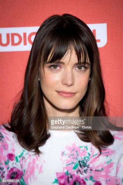 Actress Stacy Martin attends the 'Le Redoutable' Paris Premiere at Cinema du Pantheon on September 11 2017 in Paris France