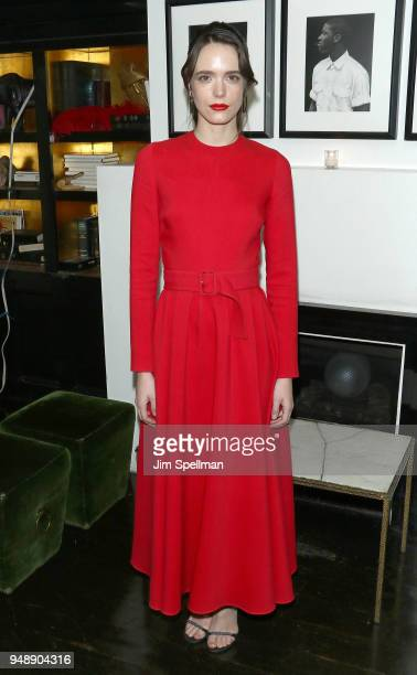Actress Stacy Martin attends the premiere after party for 'Godard Mon Amour' hosted by Cohen Media Group and The Cinema Society at Omar's on April 19...