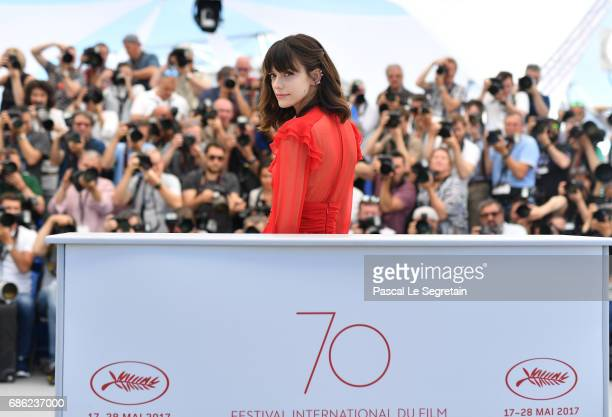 Actress Stacy Martin attends the 'Redoutable ' photocall during the 70th annual Cannes Film Festival at Palais des Festivals on May 21 2017 in Cannes...