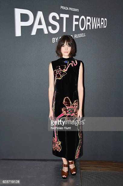 Actress Stacy Martin attends the screening of 'Past Forward' a movie by David O Russell presented by Prada on November 16 2016 in New York City