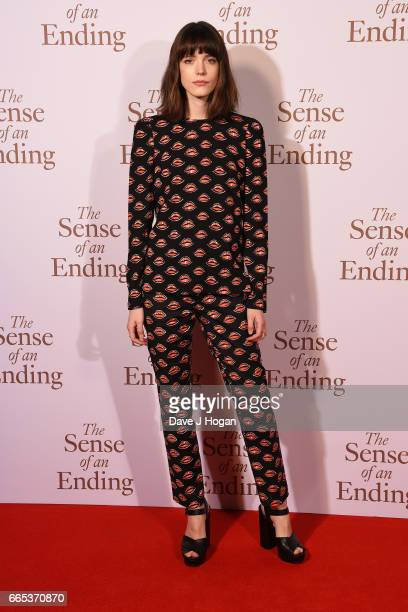 Actress Stacy Martin attends 'The Sense of an Ending' UK gala screening on April 6 2017 in London United Kingdom