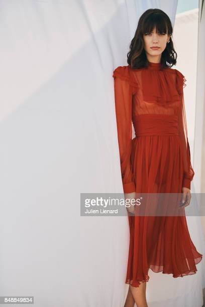 Actress Stacy Martin is photographed for Self Assignment on May 21 2017 in Cannes France
