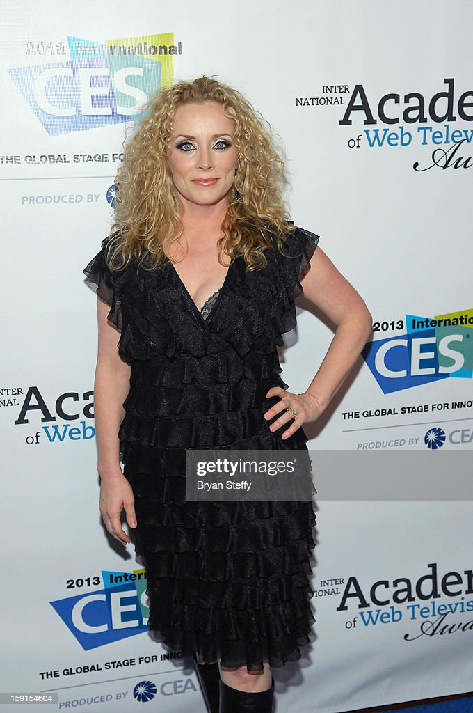 Actress Stacy McQueen arrives at the IAWTV Awards at the CES 2013 Show at the Palazzo Theater at the Palazzo Resort Hotel/Casino on January 8, 2013 in Las Vegas, Nevada.