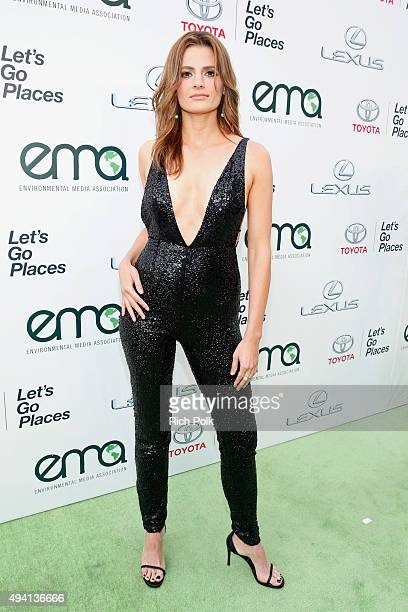 Actress Stana Kanic attends the 25th annual EMA Awards presented by Toyota and Lexus and hosted by the Environmental Media Association at Warner...
