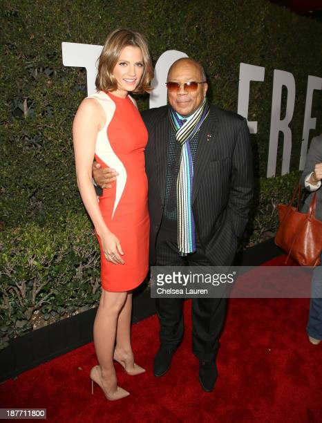 Actress Stana Katic and Quincy Jones attend 'The Weinstein Company Presents The LA Premiere Of 'Mandela Long Walk To Freedom' Supported By Burberry'...
