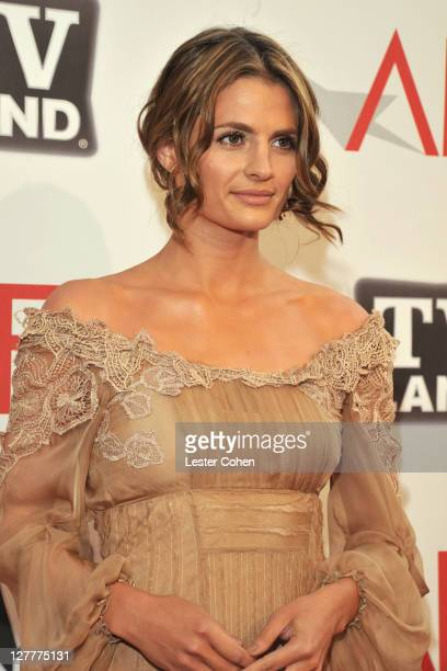Actress Stana Katic arrives at AFI's 39th Annual Achievement Award Honoring Morgan Freeman at Sony Pictures Studios on June 9 2011 in Culver City...