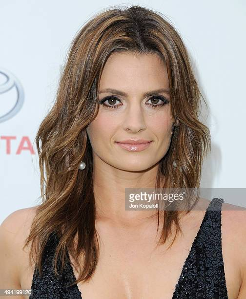 Actress Stana Katic arrives at Environmental Media Association Hosts Its 25th Annual EMA Awards Presented By Toyota And Lexus at Warner Bros Studios...