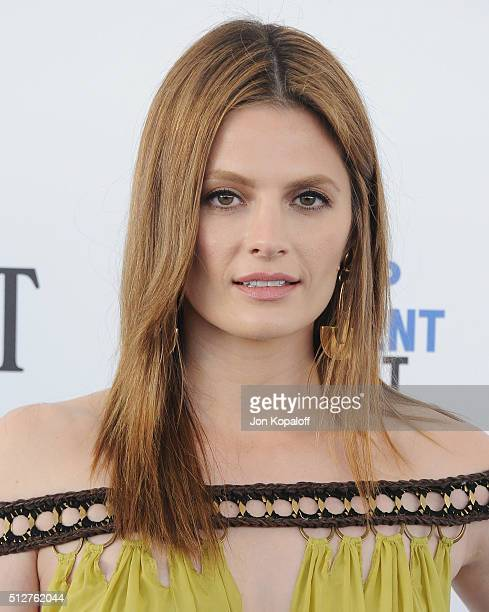 Actress Stana Katic arrives at the 2016 Film Independent Spirit Awards on February 27 2016 in Los Angeles California